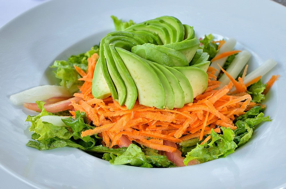 the carrot and avocado salad for grow hair faster