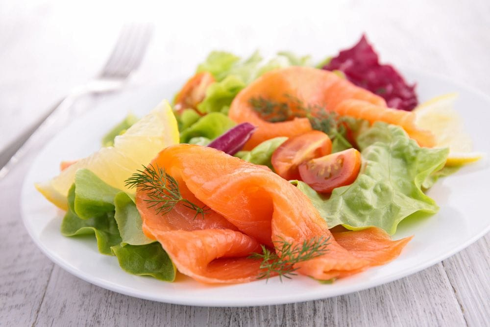 the salmon salad for grow hair faster